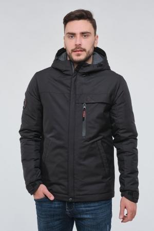 Чоловіча демісезонна чорна куртка