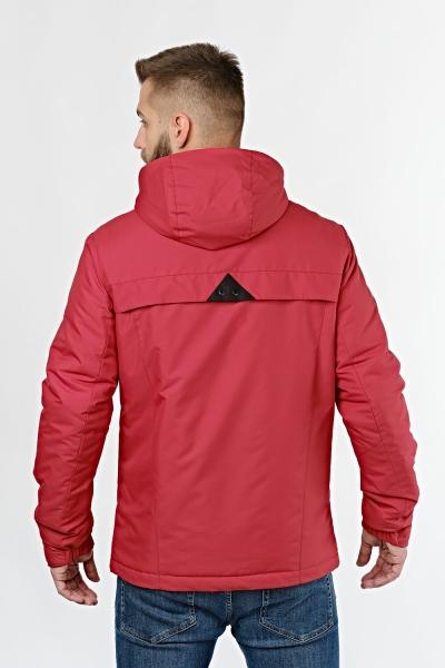 Чоловіча демісезонна куртка червоного кольору
