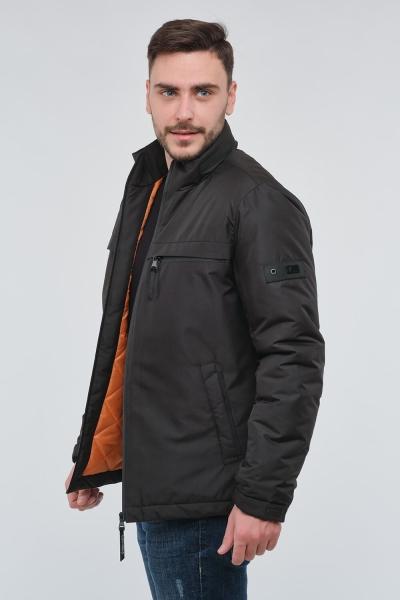 Чоловіча чорна демісезонна куртка