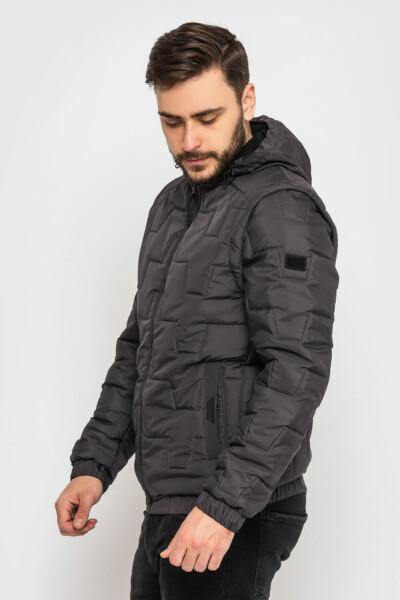 Чоловіча куртка з капюшоном, трансформер, з відстібним капюшоном і рукавами. Жилет.