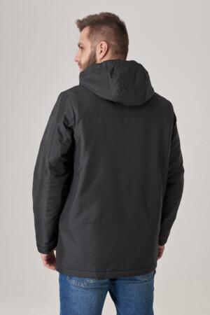 Чоловіча куртка з капюшоном, тканина з вітрозахистом рипстоп. Трикотажна підкладка.
